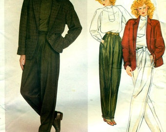 Mode 2853 MONTANA Jacke, Top, konische Hosen Größe 12 PARIS ORIGINAL