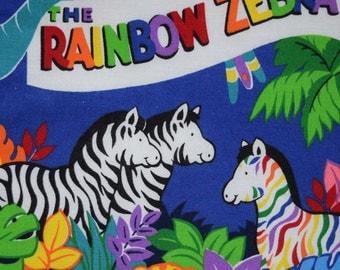 Rainbow Zebra Cloth book