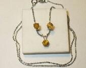Natural Sphalerite Stud Earrings & Petite Pendant Set -  Genuine Gemstones in Solid Sterling Silver