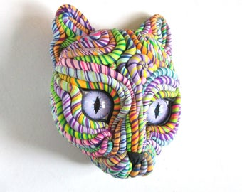 Cosmic Cat Original Wall Sculpture Mask