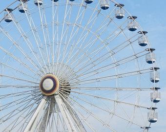 Ferris Wheel Art Beach Photography, Ocean City Beach Print, Boardwalk Photography, Blue Ocean Art, Beach Art,OCNJ Art Print,Coastal Wall Art