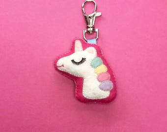 Unicorn Charm - Unicorn Keyring - Cute Unicorn -  Unicorn Keychain - Unicorn Gifts - Unicorn Birthday Gift - Unicorn Wedding Gifts