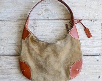 vintage Ralph Lauren leather bag | suede hobo