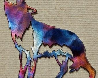 Lone Wolf Metal Art