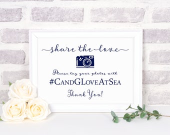 Wedding Hashtag Sign Instant Download Template | Social Media Sign Instant Download | Digital File | Printable Wedding Sign | Hashtag Sign