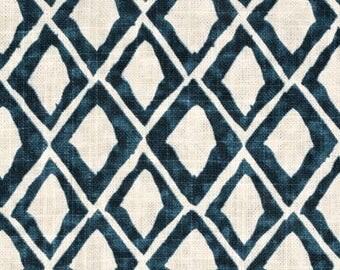 FABRIC - 3 Yards Available - Nate Berkus El Toro Fabric in Aegean Colorway