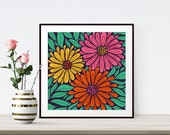 Flower Poster, Floral Dec...