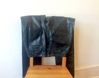 Sale 90s Gap Leather Pants Black Womens Size 6