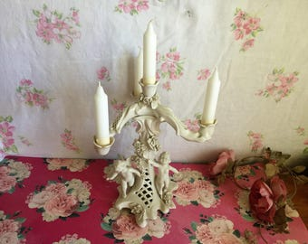 Cherub Candelabra - Porcelain - three tier
