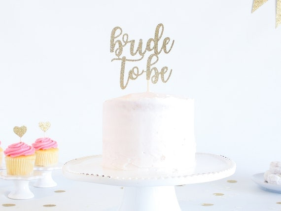 Bride to Be Cake Topper - Glitter - Engagement Party. Bachelorette Party. Bridal Shower. Engagement Prop. Bride to Be. Engagement Cake.