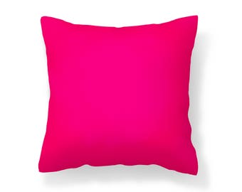 Bright Pink Outdoor Pillow /UV Resistant Pillow / Red-Pink / Mildew Resistant Pillow / Patio Pillow / Outdoor Cushion / Water Resistant