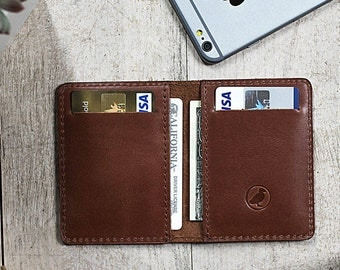 Wallet Mens Front Pocket Slim Wallet Brown Leather Personalized Gifts (if needed)
