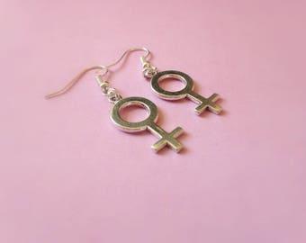 Female Symbol Earrings, Women Symbol earrings, Gender Symbol Earrings, Venus Symbol Earrings, Feminist Earrings, Sex Sign Earrings feminism
