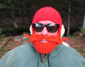 Yukon Cornelius beard hat beard Beanie crochet hat crochet beards Halloween hat character hat bearded hat Christmas Character Of All Time