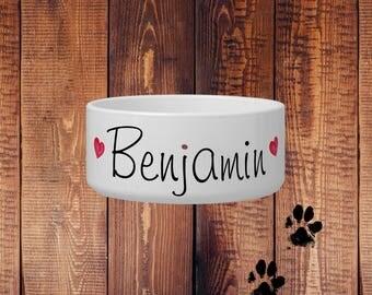 Dog Bowl Personalized Name - Dog Dish - Dog Food Bowl Ceramic - Dog Gifts - Dog Food Bowl Name - Dog Bowls Ceramic - Personalized Dog Bowl