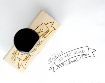 Please Do Not Bend Stamp | Small Business Packaging | Please don't bend | Packaging Stamp | Fragile Stamp | Envelope Stamp | Stationery