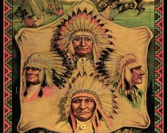 Cowboy Rodeo Poster 101 Wild West Ponca City, OK  Rodeo 18x24 Vintage Print