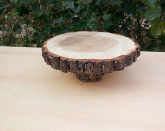 "Rustic wood stump slice 10 "", rustic wedding cake, cake base, wooden stump,10 ""Wooden Pie Stand,Wedding Center,Rustic Wedding Cake Stand"