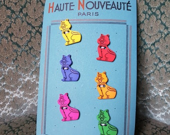 Original vintage French Plastic Buttons for Children
