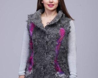 Wool vest. Women wool vest. Handmade women wool vest.