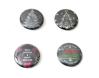 Custom Magnetic Signs - Christmas - Magnetic Jewelry - 1""