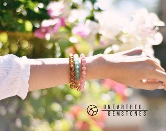 Rhodochrosite Bracelet - Love Bracelet, Gemstone Beaded Bracelet, Pink Crystal Bracelet, Yoga Bracelet, for Girlfriend