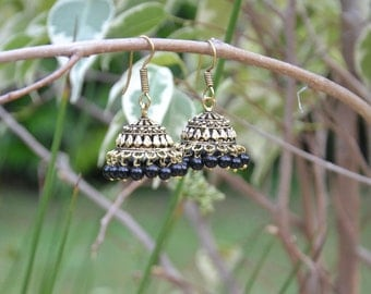 Traditional Indian earrings - Vintage look - Ethnic chic