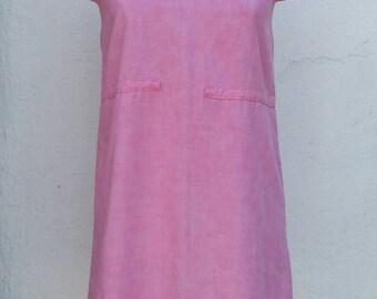 Vintage 1960s MOD Pink Mini Shift Dress