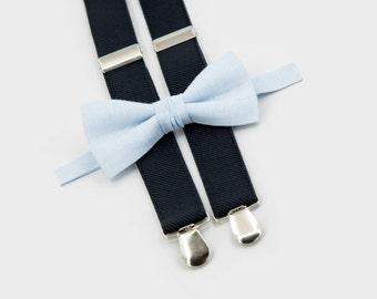 grooms bow tie and suspenders sky blue bow tie & black suspenders wedding groomsmen outfit