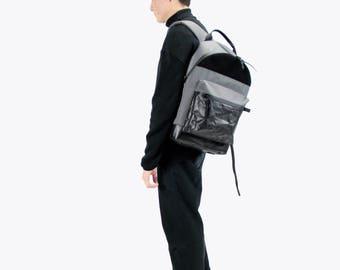 Gray Backpack, City Backpack, School Backpack, Casual Backpack, Men's Backpack, Girl's Backpack, Gift for boyfriend, Gift for Girlfriend