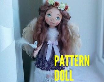 Pattern doll Textile doll clothes Body PDF Sewing Pattern Rag Doll Pattern pdf Blank Rag PDF Doll Body Doll Form Doll Angel