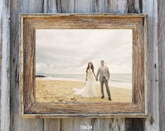 Natural--(All Sizes) Rustic Barn Wood Picture Frame-The Loft Signature Quality Handmade Vintage Frames