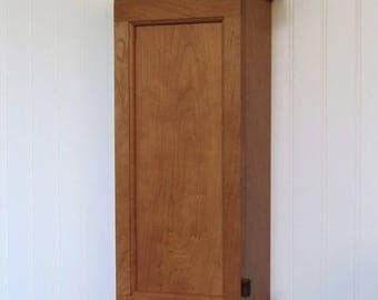 Handcrafted Wood Furniture. Solid Cherry Shaker Wall Cabinet Handcrafted for Home Gift Any Room Display