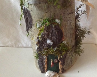 Natural Wintery Gnome House