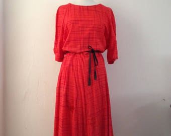 1960's/70's Marimekko red dress