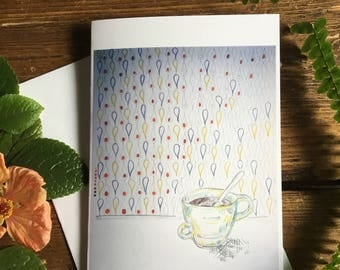 Greeting card, on a lovely afternoon