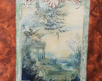 Decorative painting by former effects