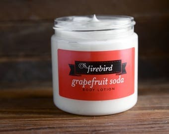 Grapefruit Soda Body Lotion - Avocado and Shea Butter Lotion - Summer Outdoors