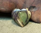 Reorganization Sale 30% off ~ Jungle Multicolored Gold Green Brown Picasso Jasper Heart