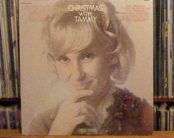 """Vinyl Record """"Christmas With Tammy"""" Wynette 1970 Epic Records - Vintage Country Western Holiday Album"""