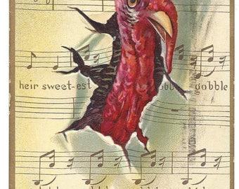 Antique Postcard - Raphael Tuck & Sons - Comic Thanksgiving Day - Series No 162