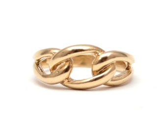 10k Chain Link Ring
