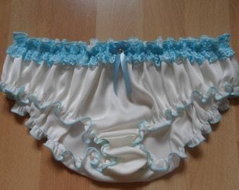 Ivory Silk Ruffled Panties - Handmade