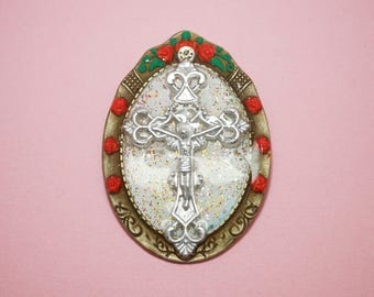 "Brooch ""Christ's cross"""