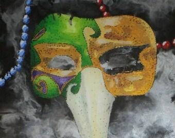 Nose Mardi Gras Mask Print, Art Print, Mardi Gras, Halloween, Gift, Decor, New Orleans, NOLA