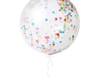 Giant Multi-Color Confetti Balloon Kit