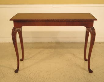 43789EC: WELLINGTON HALL Georgian Style Carved Mahogany Console Table