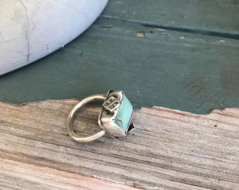 Chunky sterling silver ring // Royston turquoise // turquoise // statement ring // boho style // 925 // adorned