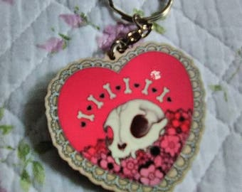 "2"" Vulture Culture Maplewood Keychain"