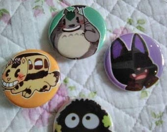 "1.5"" Ghibli Button Pack"